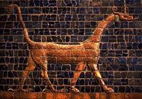 Marduk glazed black brick relief
