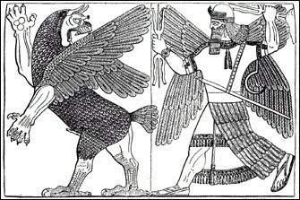 Tiamat and Marduk battle