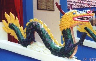 Dragon at temple, Penang