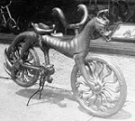 wooden dragon bicycle for pu yi