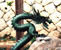 Green dragon in temple