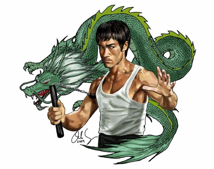 bruce lee green dragon