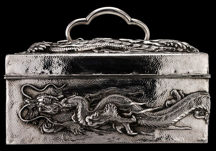 japanese dragon jewelry box